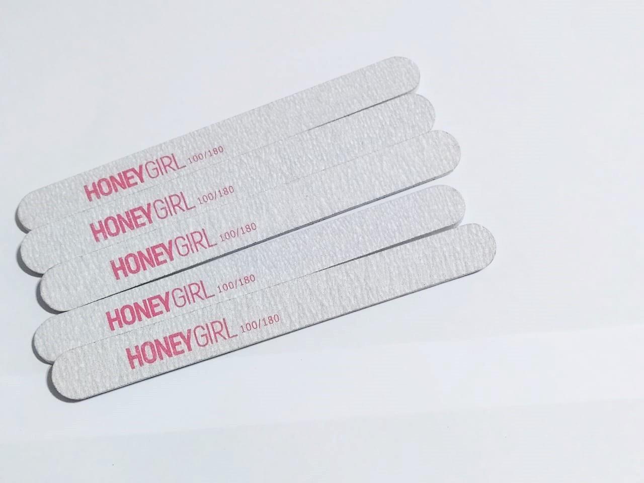 48 Lixas Honey Reta Vermelha Grossa P/ Unha Em Gel 100/180