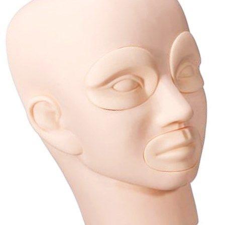 Cabeça Manequim Treino Maquiagem Cílios Microblading Tebori