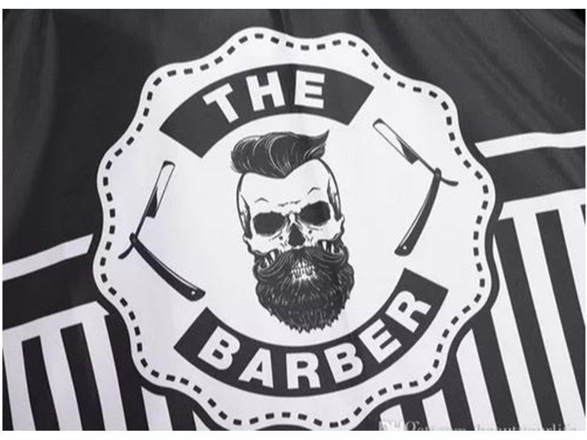 Capa De Corte Profissional Para Barbeiro Cabeleireiro Barber Pro Caveira