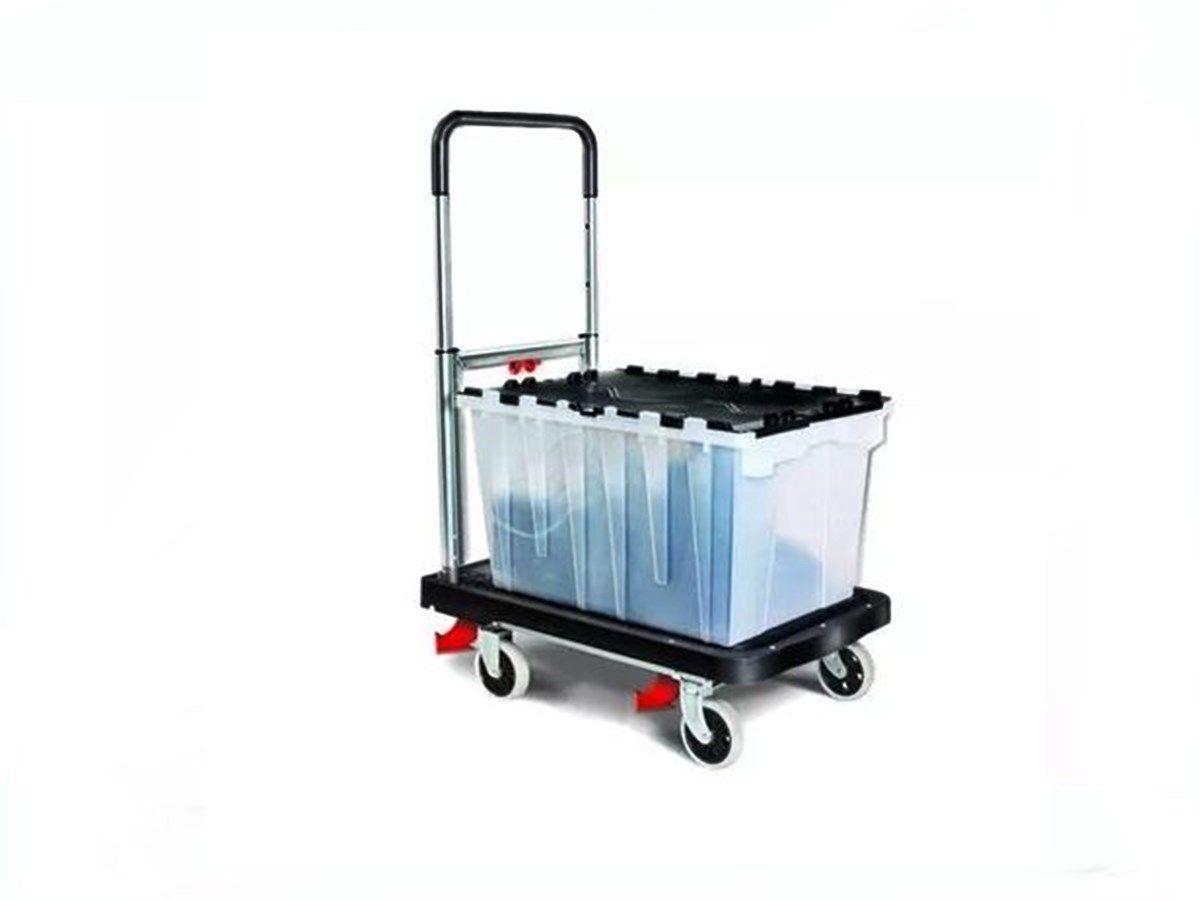 Carrinho De Carga Plataforma Dobrável Roda De Silicone 150kg