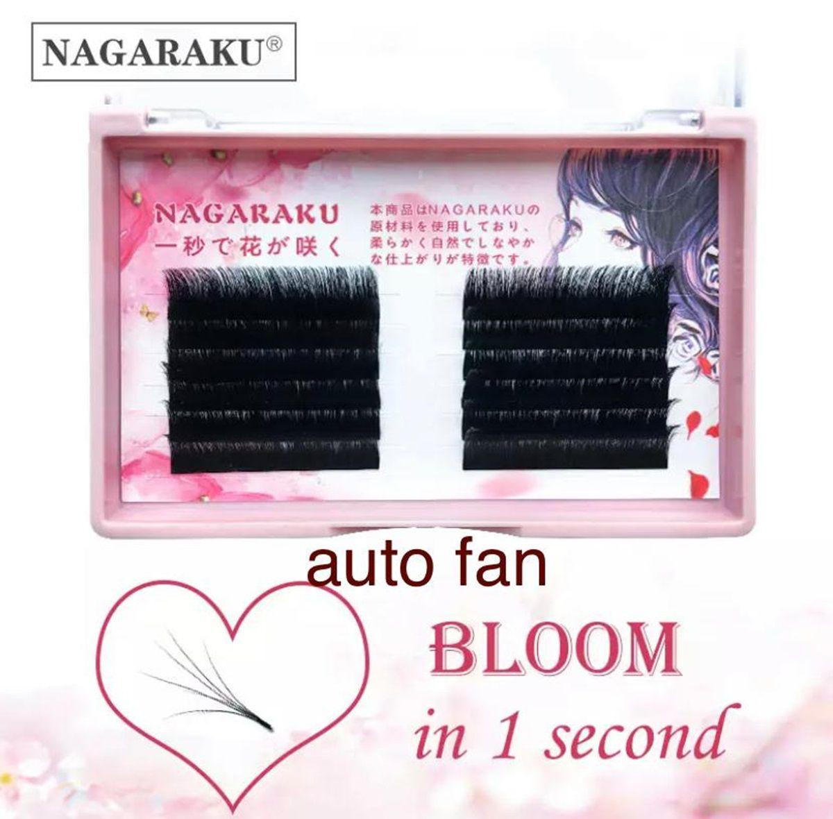 Cílios Nagaraku Auto Fan 0.03 D Volume Russo Mix 10-12-14mm