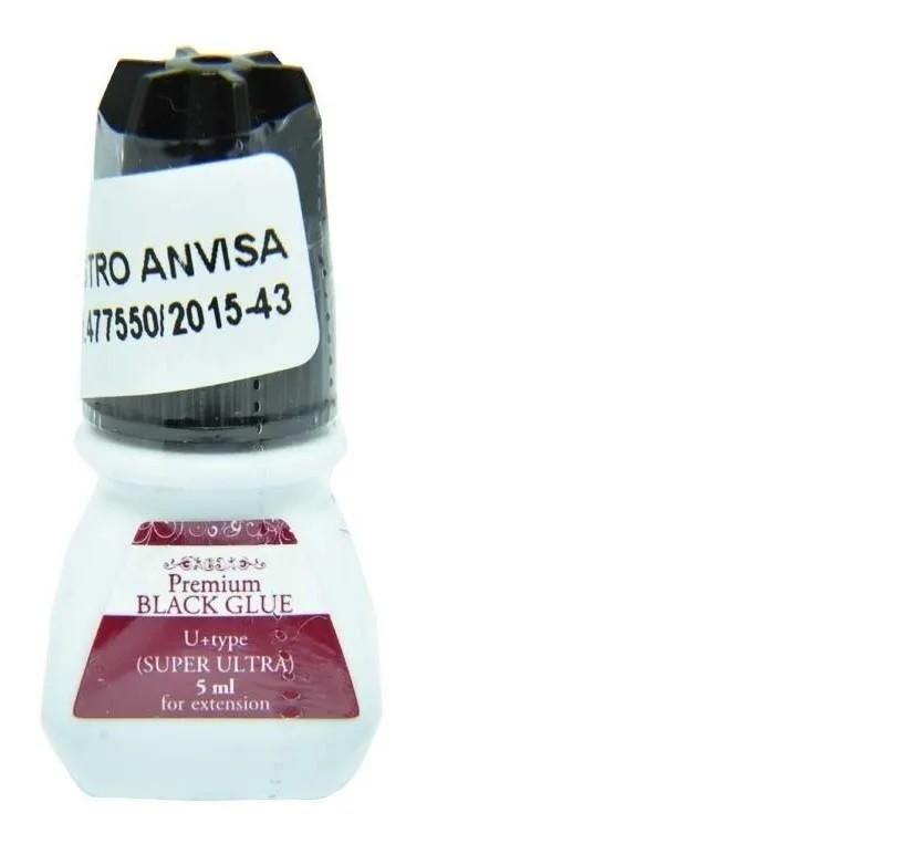Cola Alongamento De Cilios Fio A Fio Premium Black Glue 5ml Branco