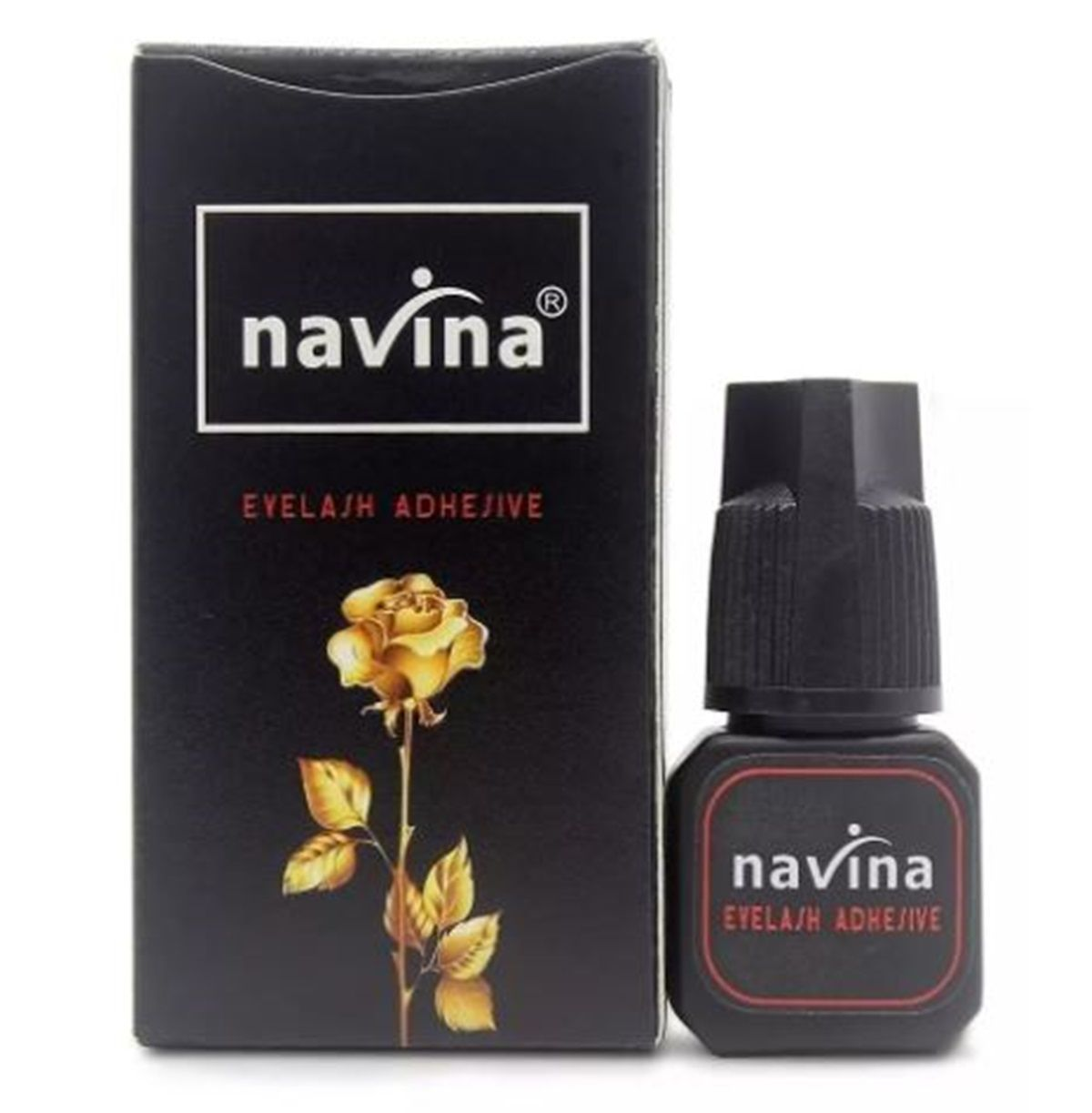 Cola Cílios Postiço Navina Alongamento Eyelash Adhesive 5gr