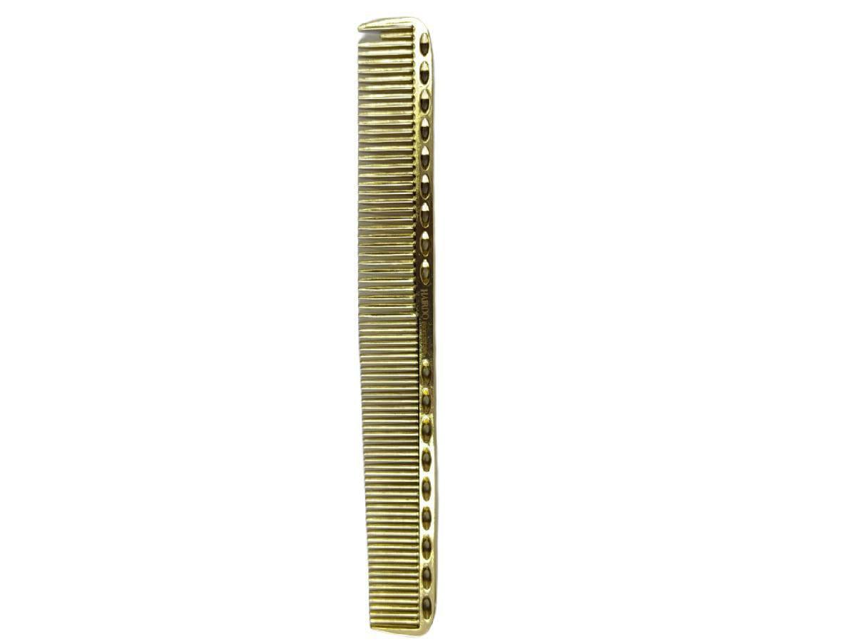 Pente De Corte Metal Alumínio Para Barbeiro 21,5 Cm Dourado