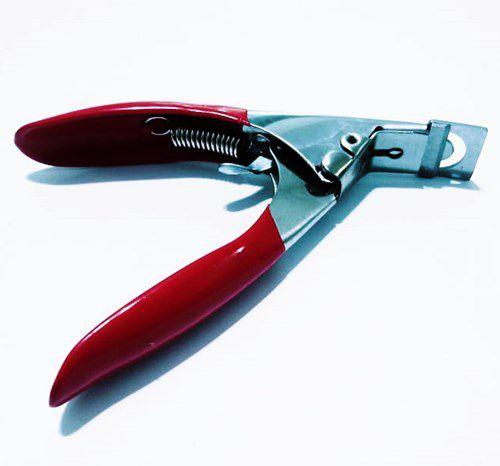 Cortador Alicate Vermelho P/ Unhas Postiça Gel Acrigel Porcelana Tips