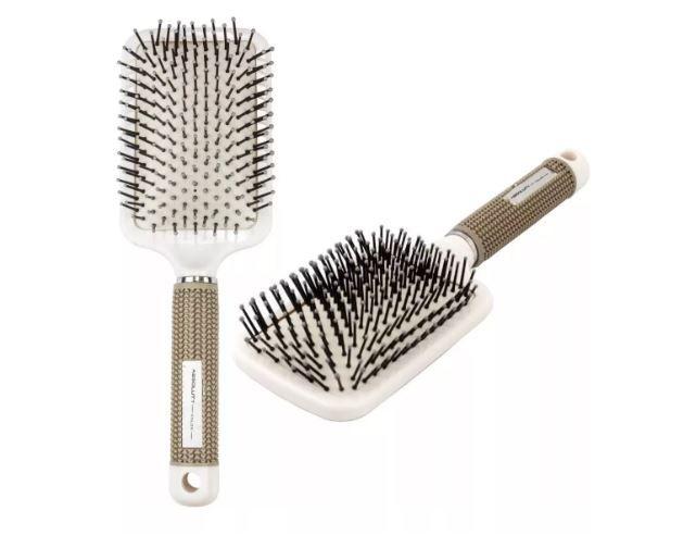 Escova Raquete Almofadada Profissional Cabeleireiro Hairdo