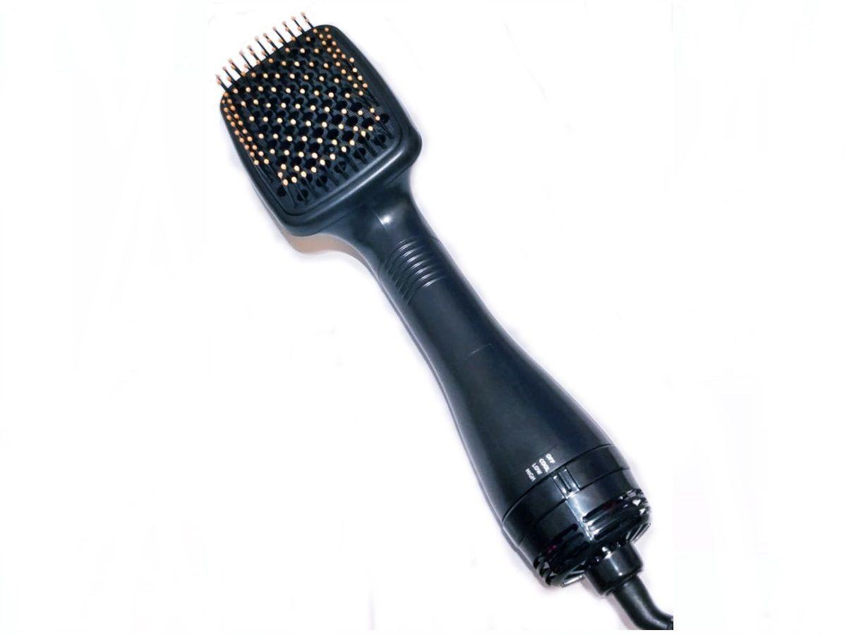 Escova Secadora Alisadora Almofadada Hair Dryer 220v Com Cabo Giratório 360º
