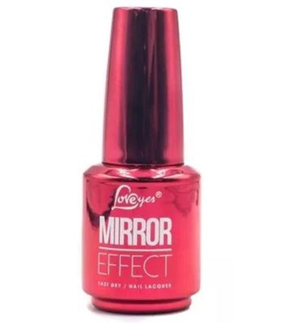 Esmalte Cromado Metalizado Royal Red 10 Mirror Effect Efeito Gel Love Yes