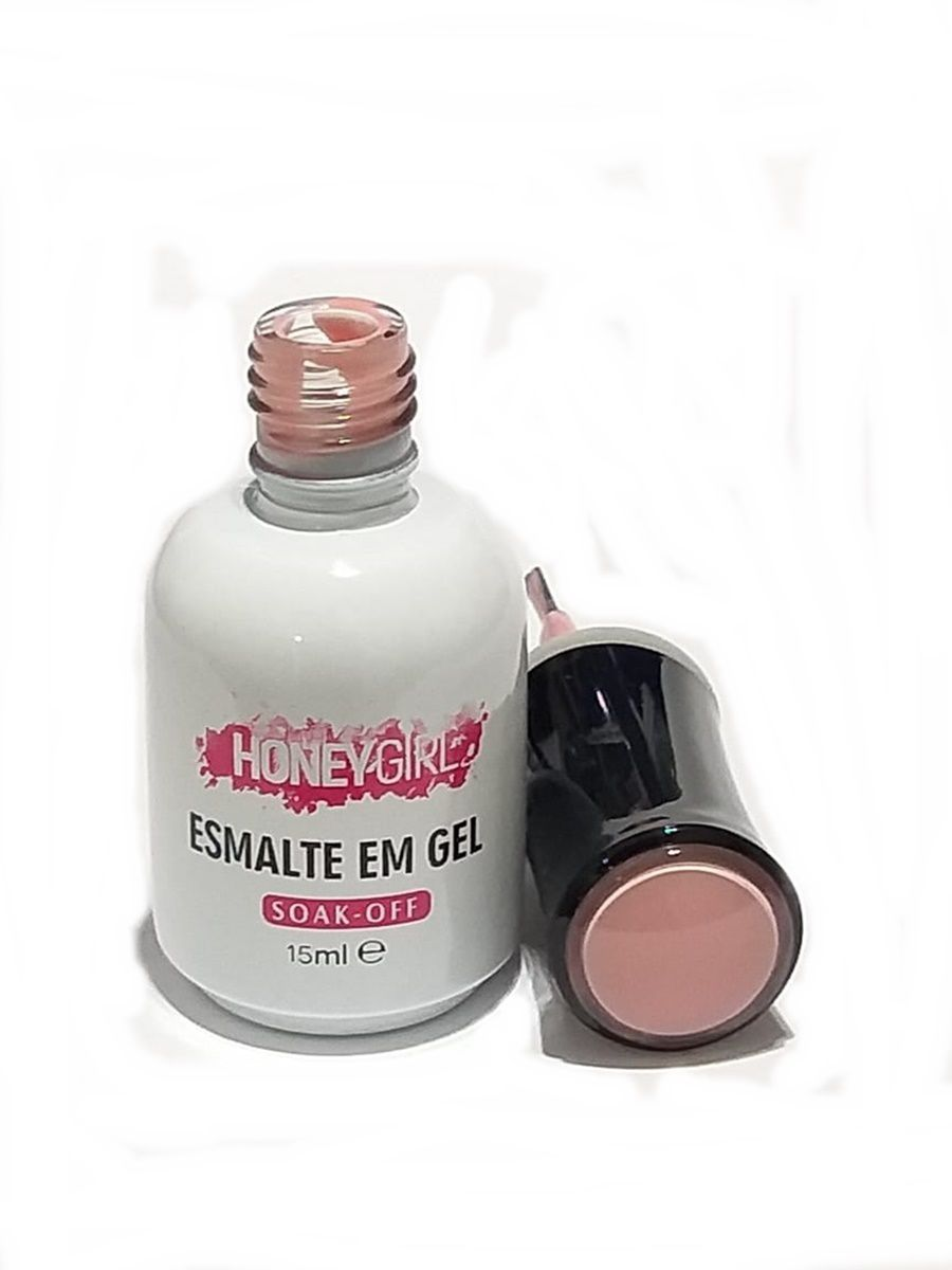 Esmalte Gel Led Uv Nude 019 Honey Girl 15ml Unha Gel Fibra E Acrígel
