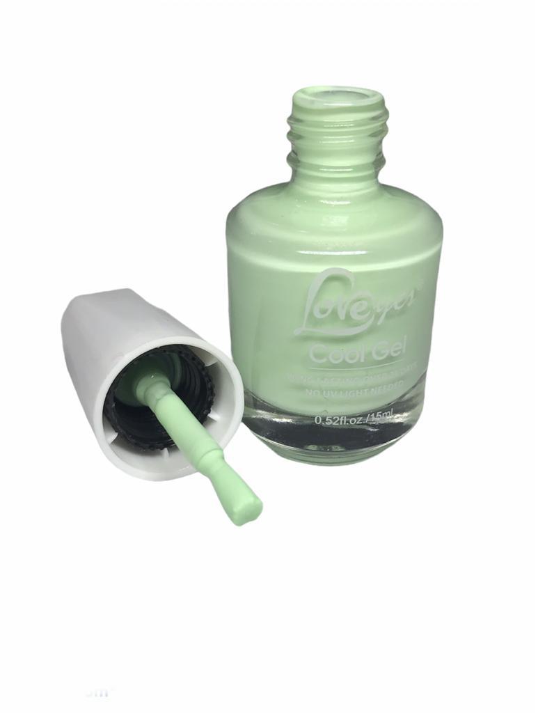 Esmaltes Em Gel Love Yes Esmalte Unha Gel Sem Cabine Pastel Green #18