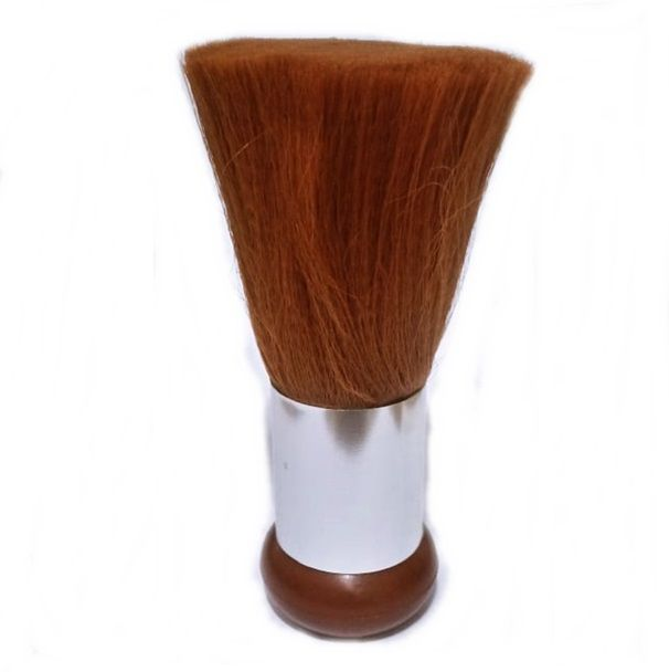 Espanador Marrom Para Cabeleireiro Barbeiro Profissional Ref: 89139