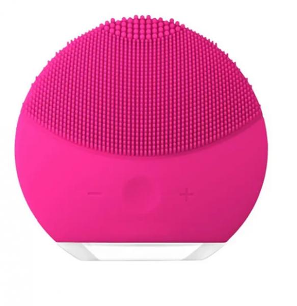 Esponja Elétrica Massagem Limpeza Facial Escova Recarregável Rosa