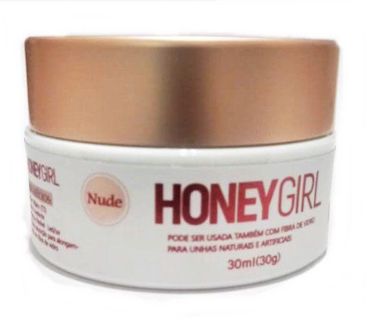 Gel Honey Girl Fiber3 Nude Construção De Unha Em Gel Fibra Acrigel 30gr