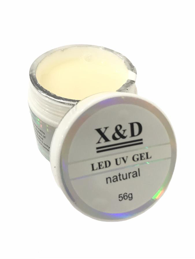 Gel X & D Para Unhas Led Uv X&d Natural Leitoso 56gr X & D