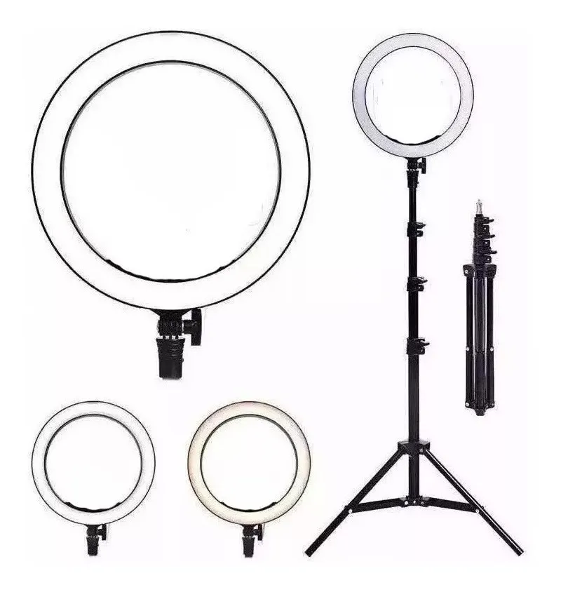 Iluminador Led Ring Light Anel C/ Tripé Make Selfie Youtube