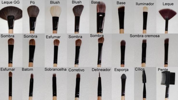 Kit 24 Pinceis De Maquiagem Profissional Com Estojo