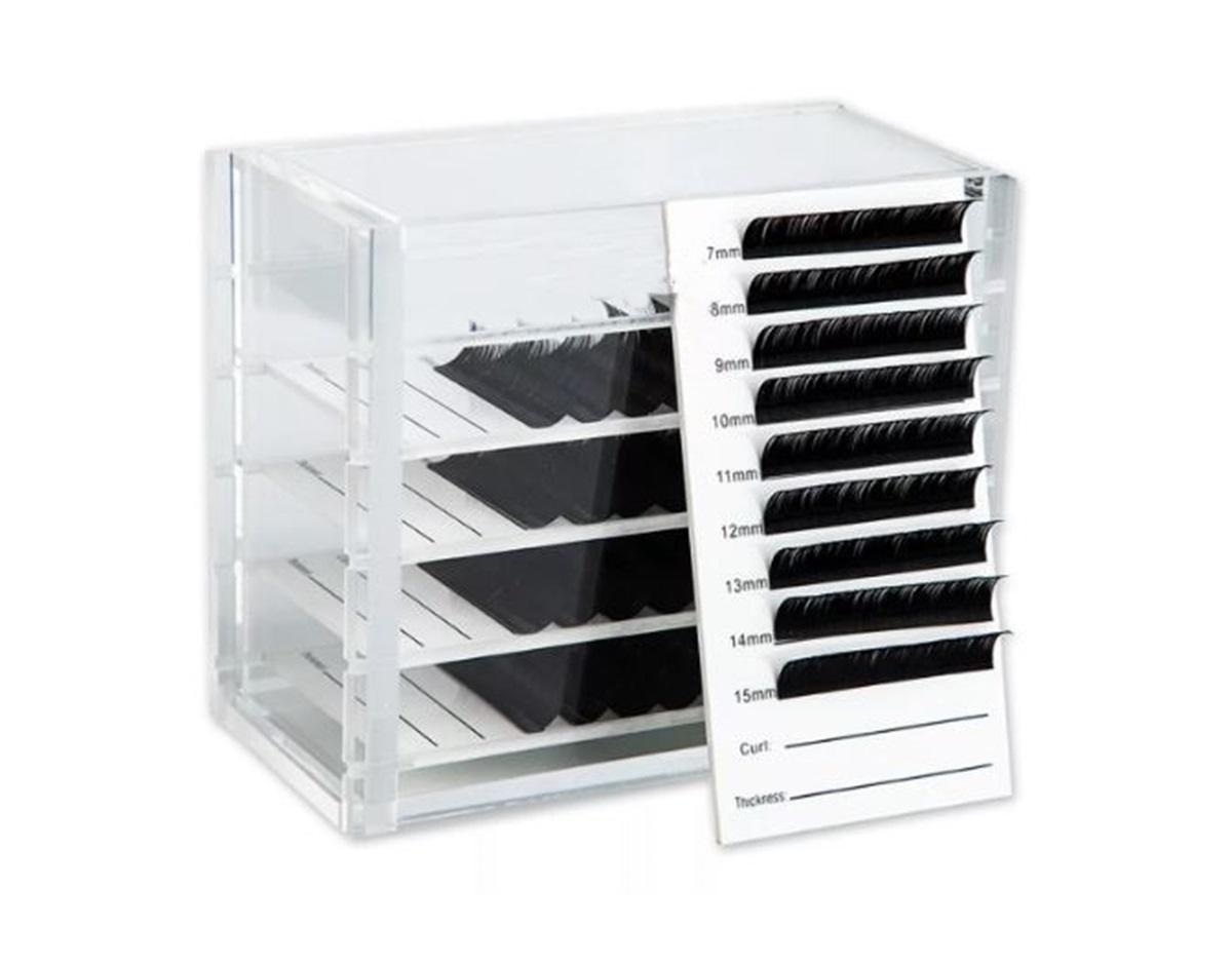 Lash Box Caixinha Porta Cílios Organizadora Com 5 Placas