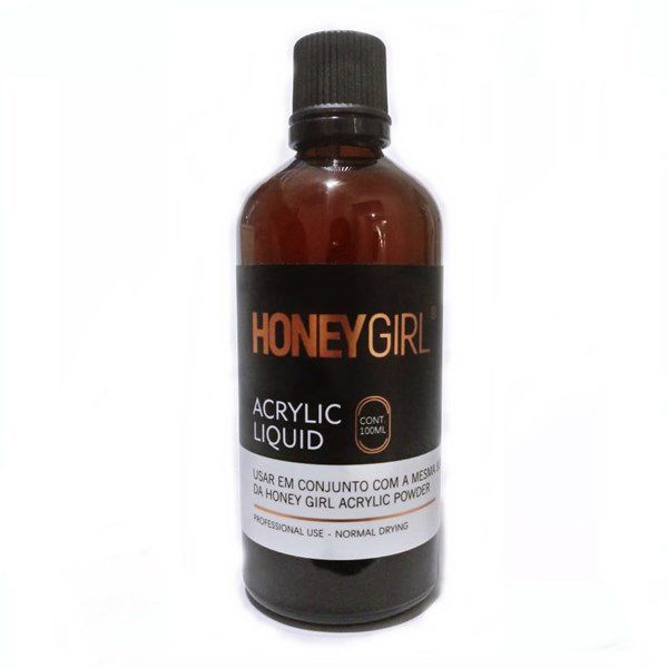 Liquido Acrílico Monomer Honey Girl 100ml Unha De Porcelana
