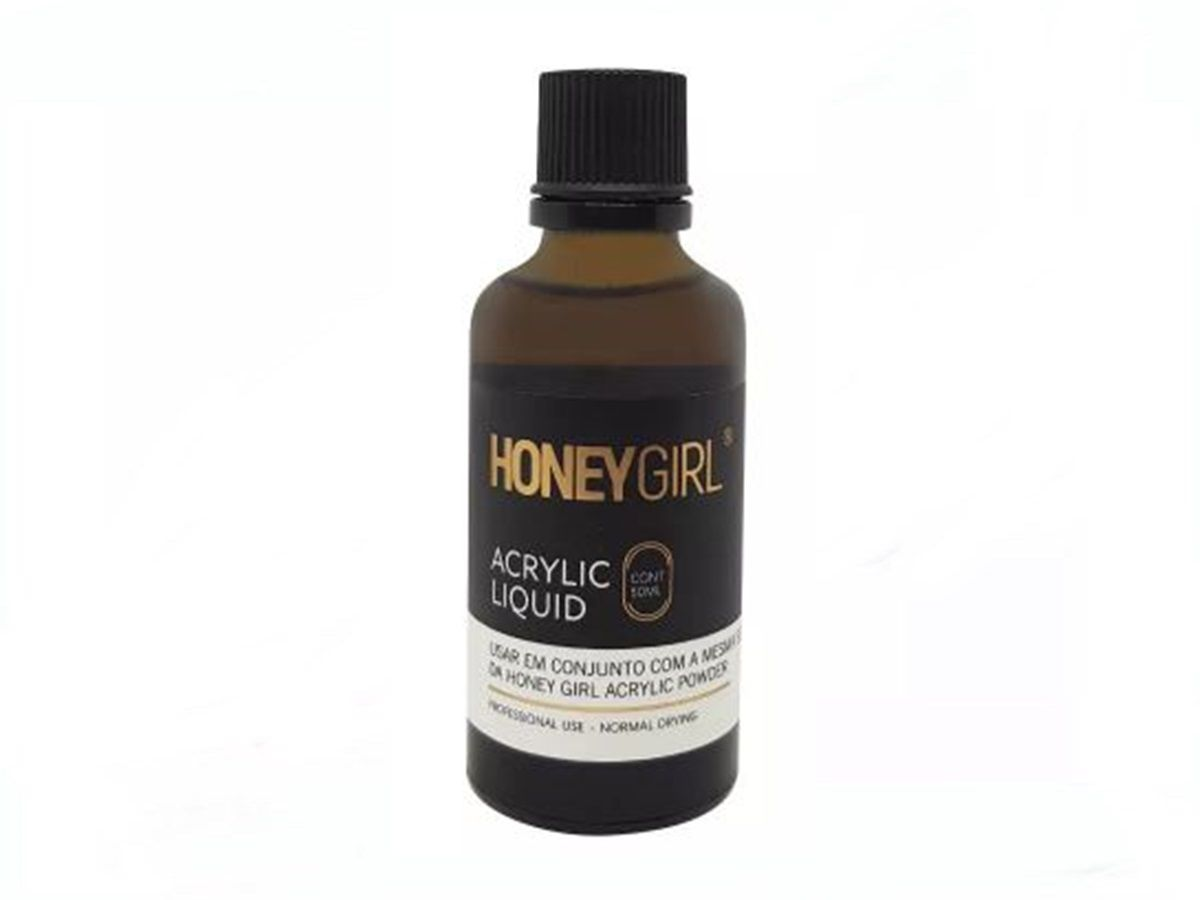 Liquido Acrílico Monomer Honey Girl 50ml Unha De Porcelana