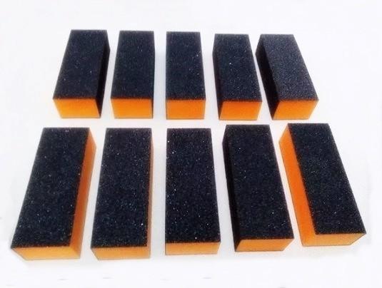 Lixa Bloco Fecha Poros Unhas Gel Porcelana Acrigel Preta c/10 Unid