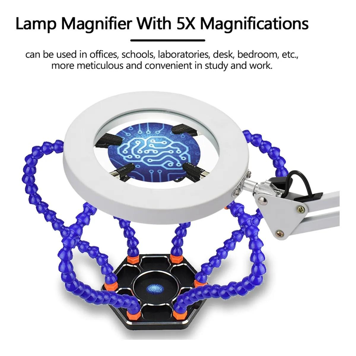 Luminária Lupa Led 5x Ringlight Usb Bivolt M023