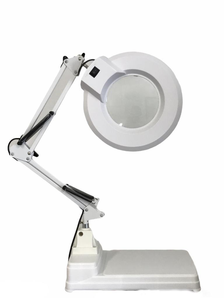 Lupa Luminária Estética Manicure Regulagem Com Base Bivolt