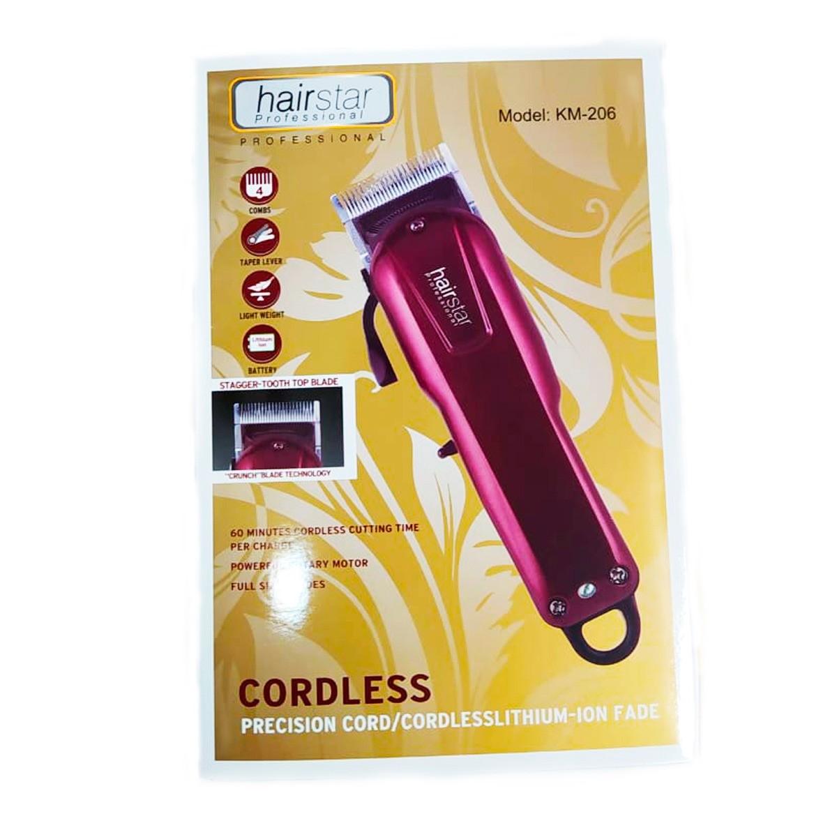 Maquina De Cortar Cabelo Barba Eletronica Hairstar Km 206