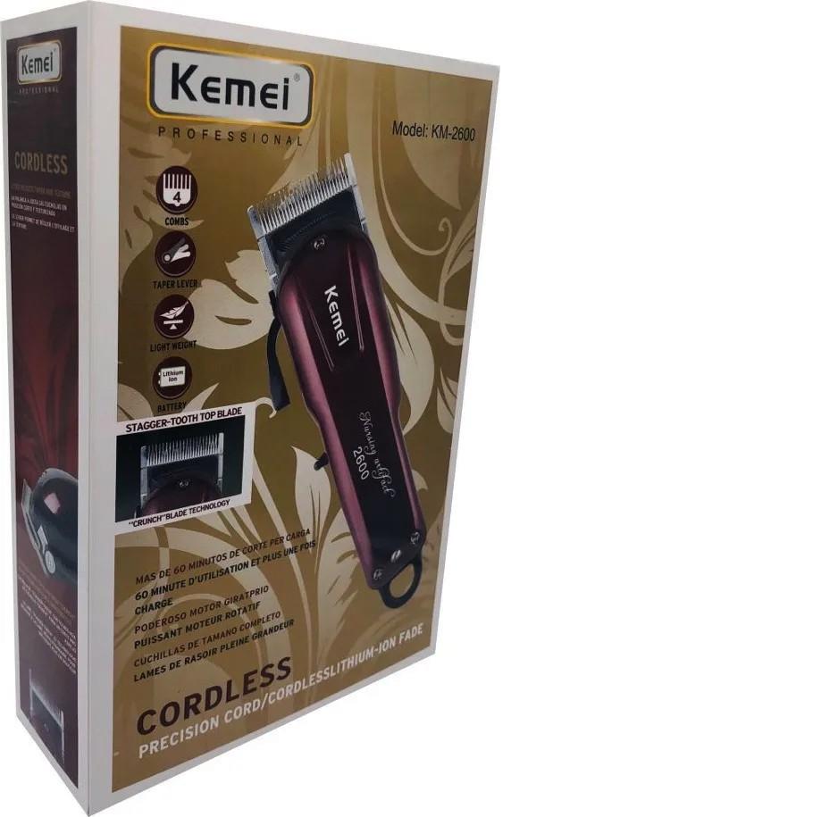Maquina De Cortar Cabelo Barba Kemei Eletronica Km-2600