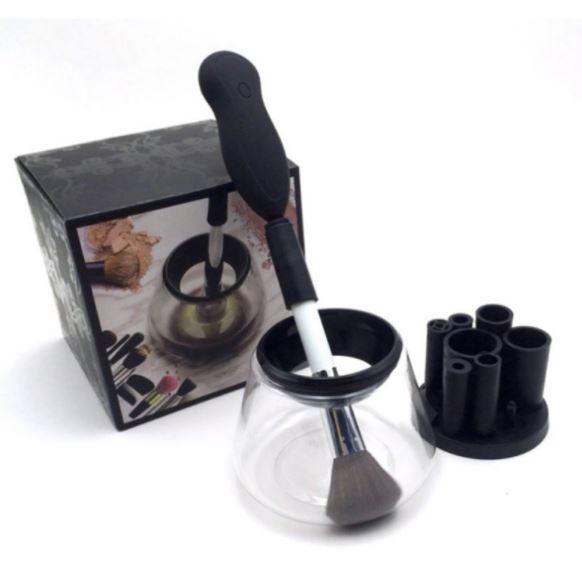Limpador De Pincel Elétrico Profissional Maquiagem Make Limpa E Seca Rápido - Pilha