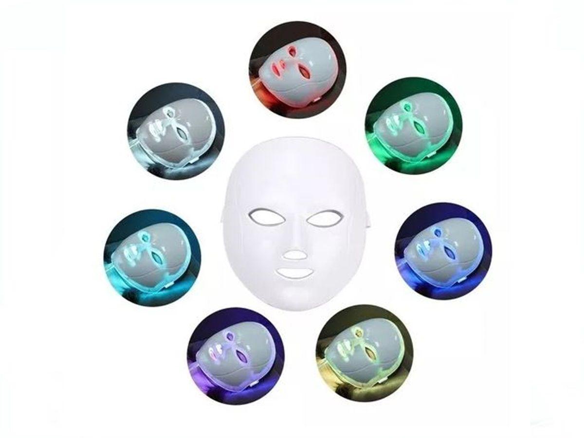 Máscara Led 7 Cores Estética Facial Tratamento Fototerapia Anti Idade