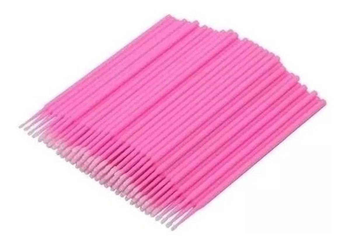 Microbrush Cotonete Para Alongamento De Cílios Saco 100 Und