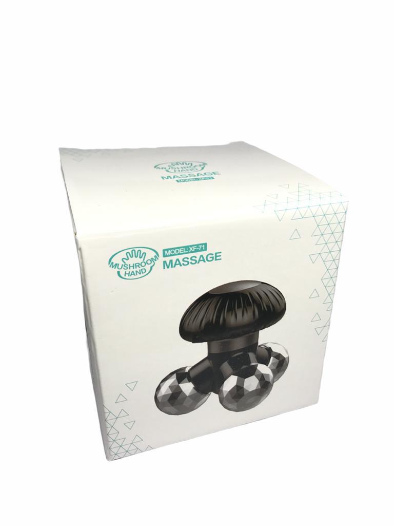 Mini Massageador Vibratório Elétrico Usb Portátil Cogumelo Azul