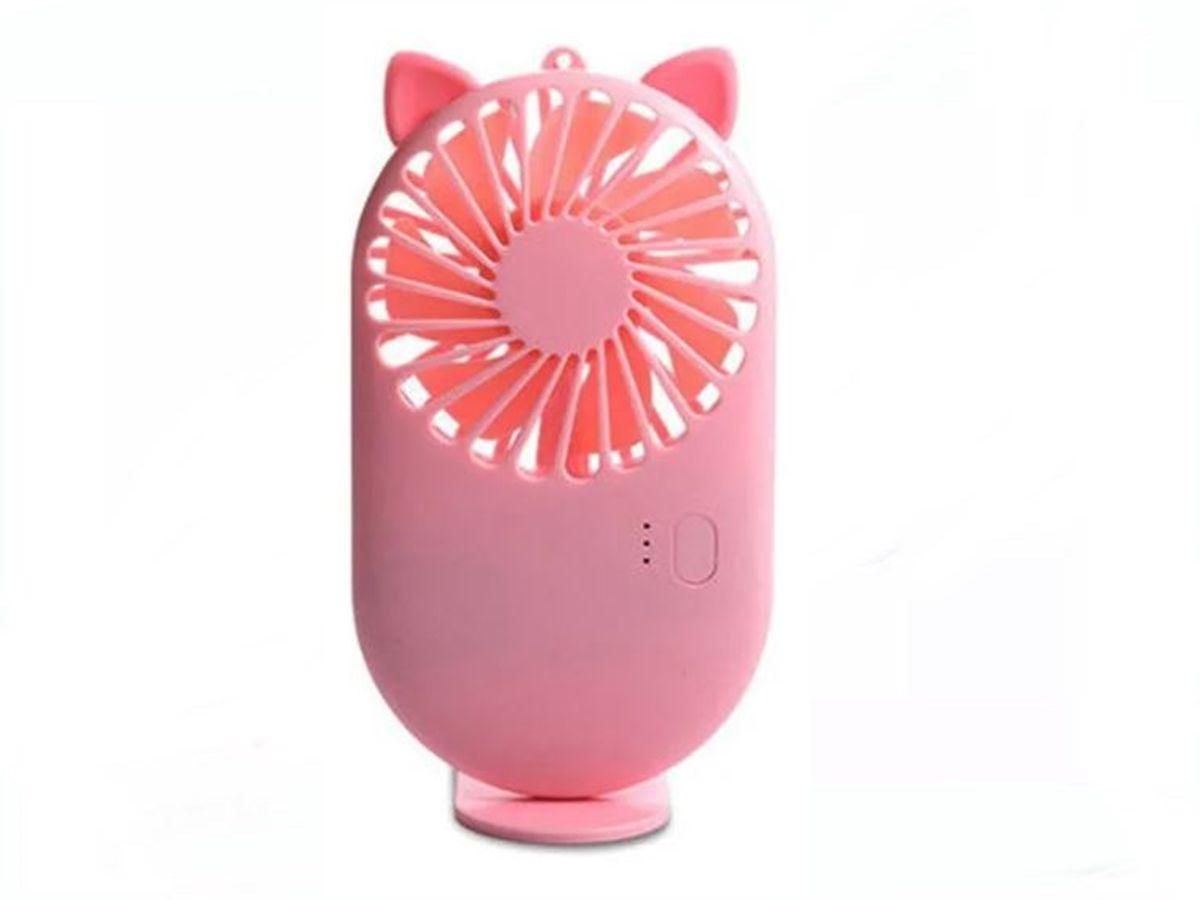 Mini Ventilador De Cílios Pocket Fan Com 3 Velocidades Rosa