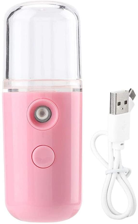 Nano Mister Spray Vaporizador Facial E Cilios Usb Rosa