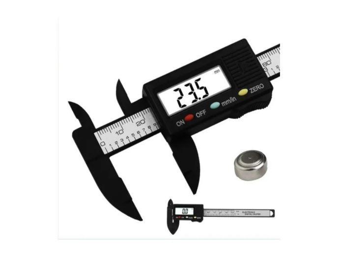 Paquímetro Digital Eletrônico 150mm Fibra Carbono + Bateria