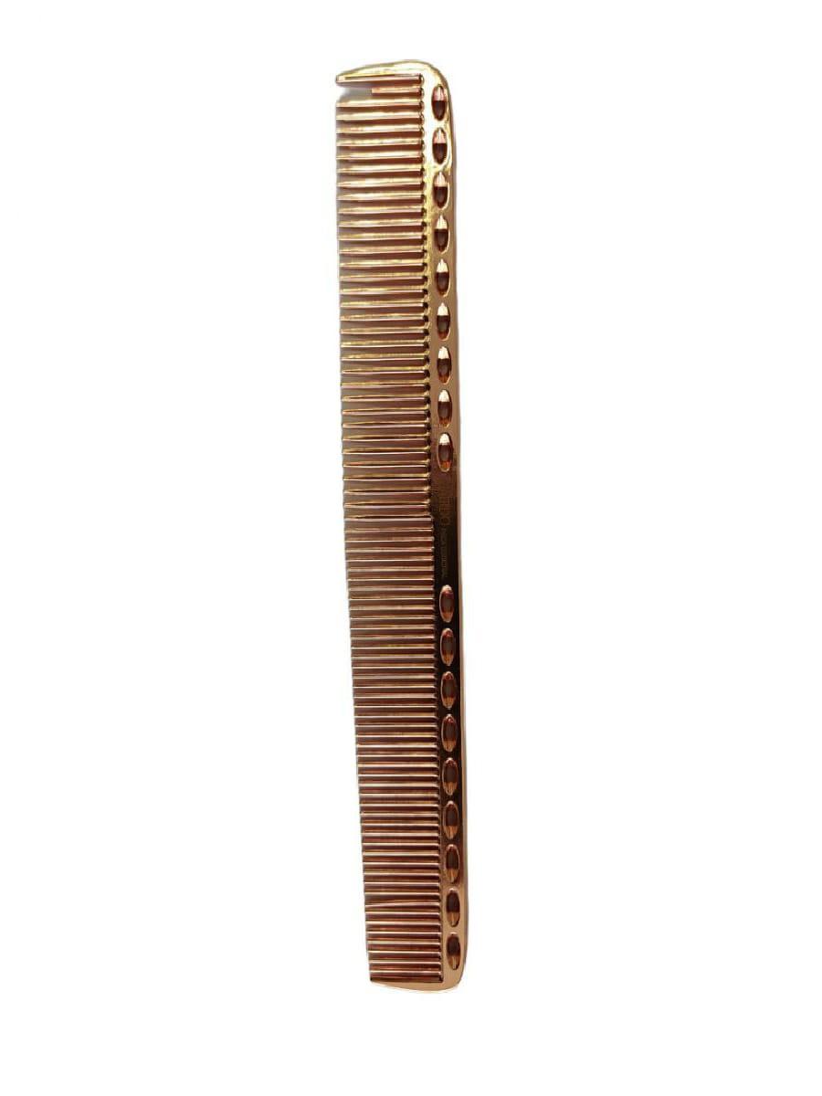 Pente De Corte Metal Alumínio Para Barbeiro 21,5 Cm Bronze