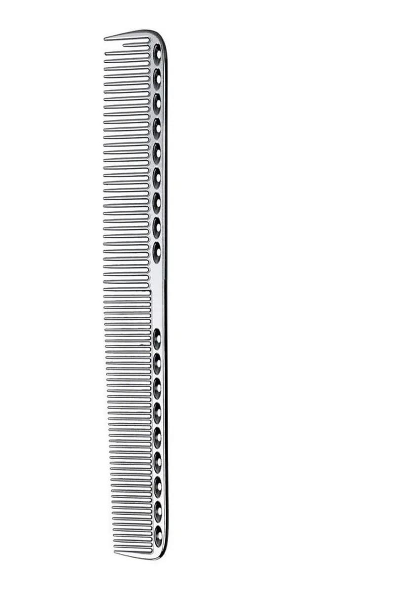 Pente De Corte Metal Alumínio Para Barbeiro 21,5 Cm Prata