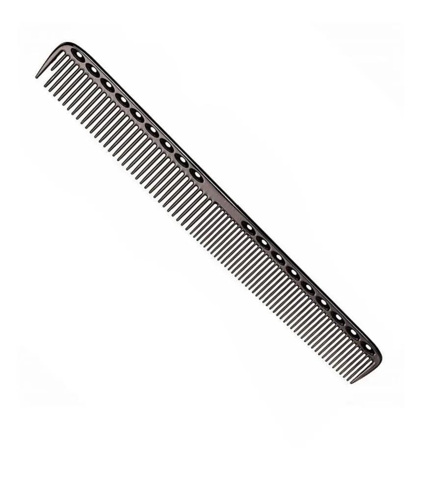 Pente De Corte Metal Alumínio Para Barbeiro 21,5 Cm Preto