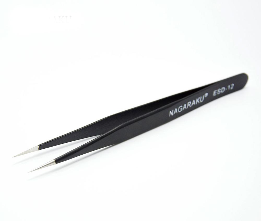 Pinça Nagaraku Para Extensão De Cílios ESD-12