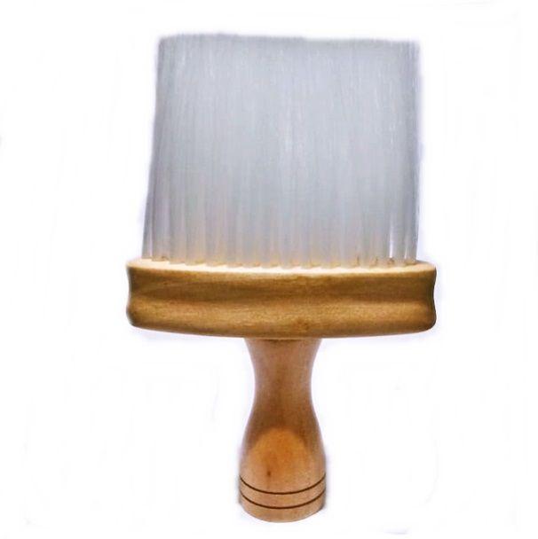 Pincel Espanador Cabeleireiro Barbeiro Cerda Branca Profissional Ref: 331392
