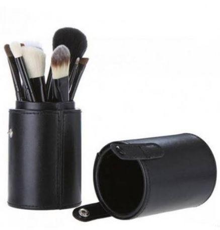 Pincel Maquiagem Profissional Kit C/ 12 Preto