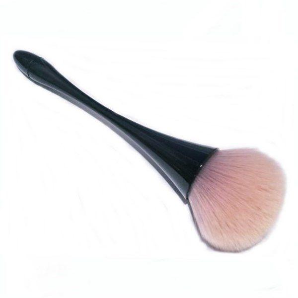 Pincel Para Maquiagem Blush Corretivo Pó Base Preto com Rosa