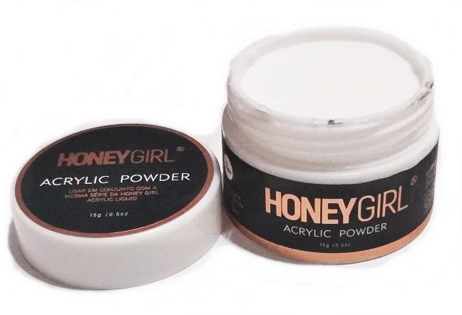 Pó Acrílico Acrylic Powder Clear Para Unha Acrílica Honey Girl 15gr