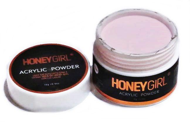 Pó Acrílico Acrylic Powder Pink Para Unha Acrílica Honey Girl 15gr