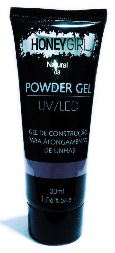 Polygel Natural 03 Honey Girl Powder Gel Led Uv Alongamento Unhas 30ml