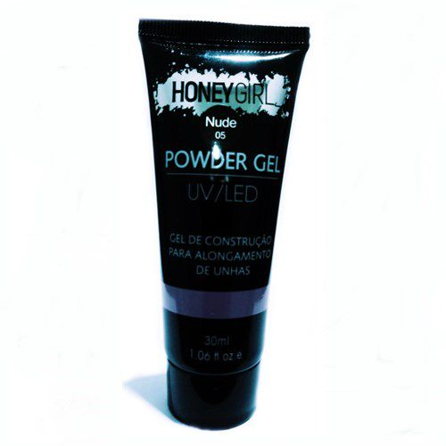Polygel Nude 05 Honey Girl Powder Gel Led Uv Alongamento Unhas 30ml