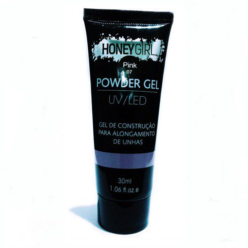 Polygel Pink 07 Honey Girl Powder Gel Led Uv Alongamento Unhas 30ml