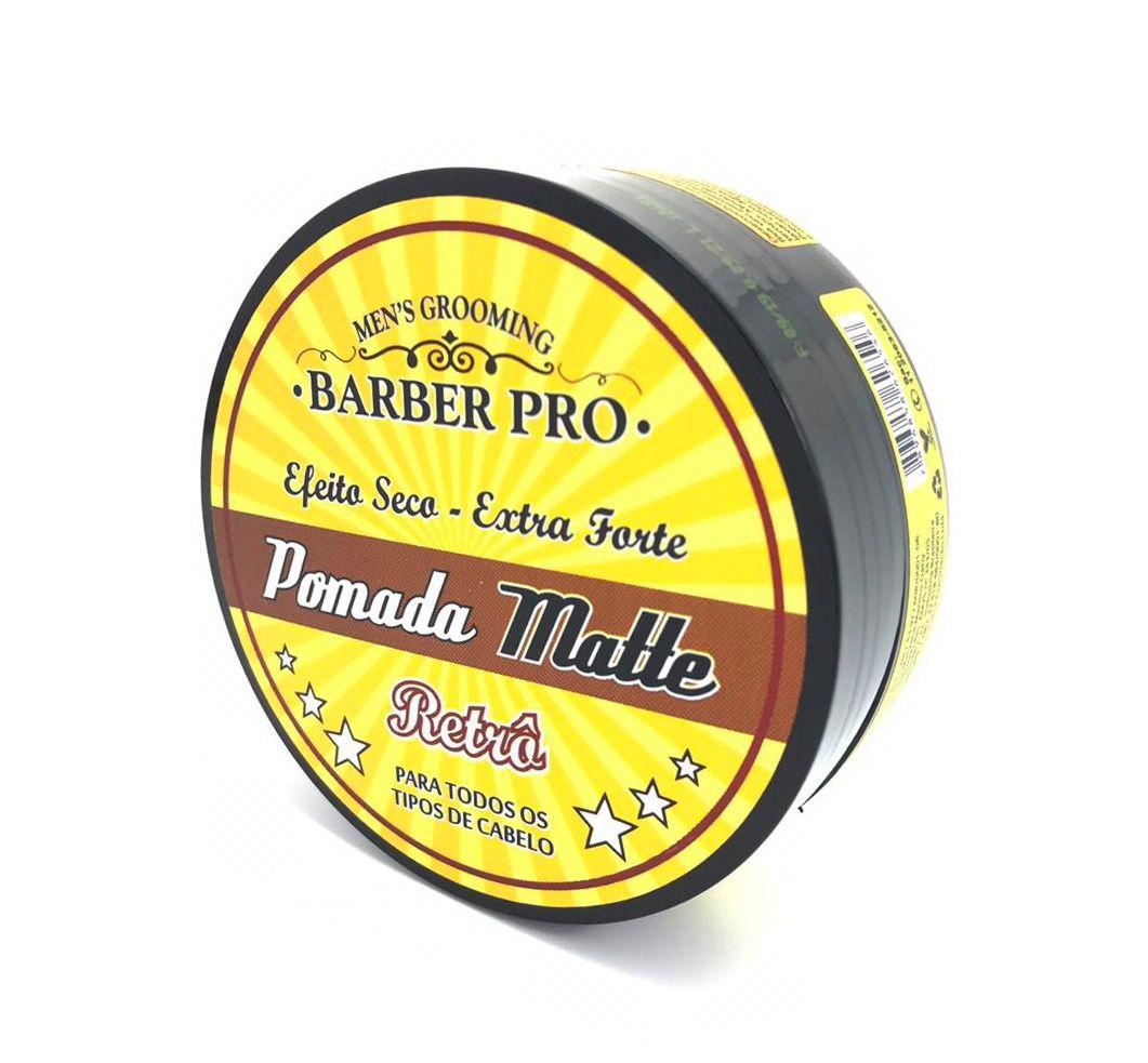 Pomada Matte Efeito Seco Extra Forte Barber Pro 150g