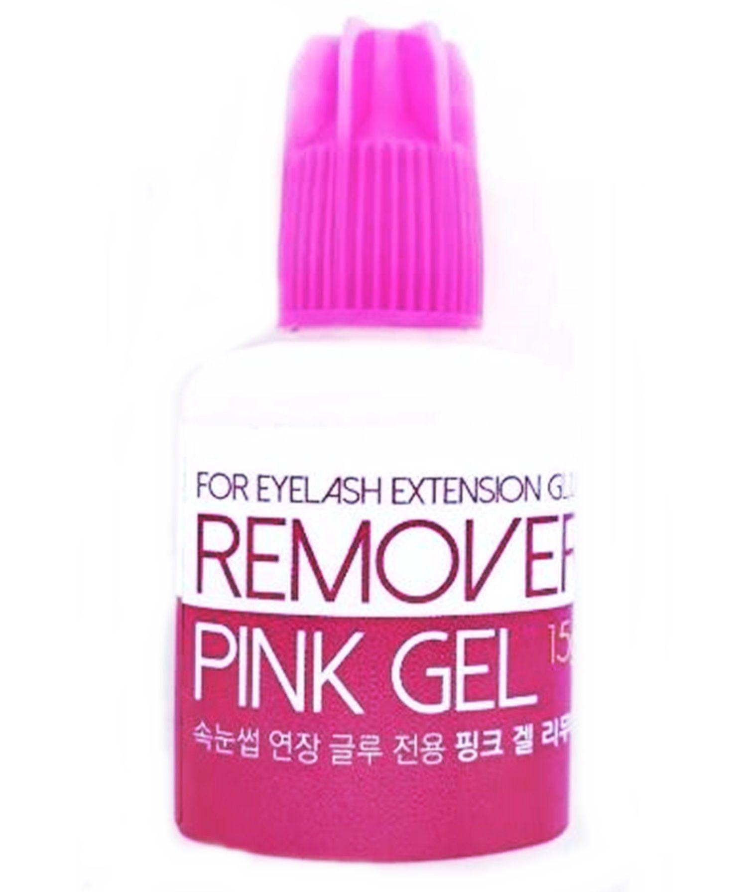 Removedor De Cola Alongamento De Cilios Remover Pink Gel 15g