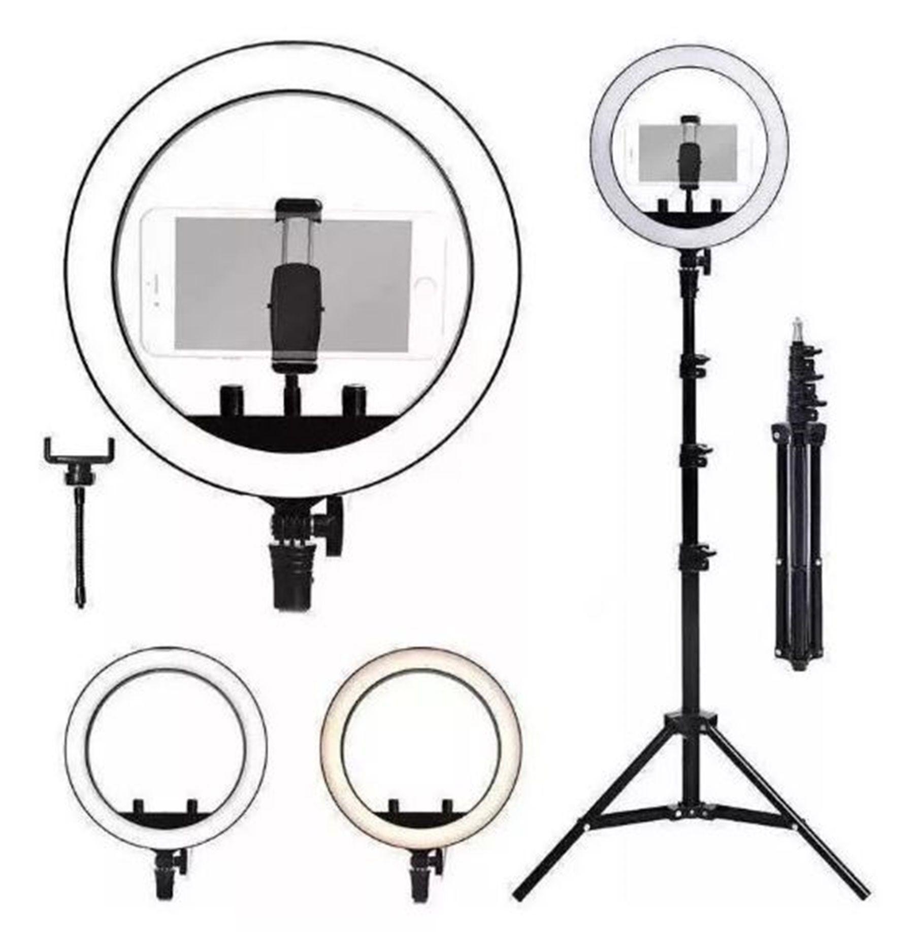 Ring Light 10 Polegadas Tripé Maquiagem Led Selfie 26cm